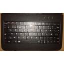 Pochette clavier  pour  tablette  en cuire  noir
